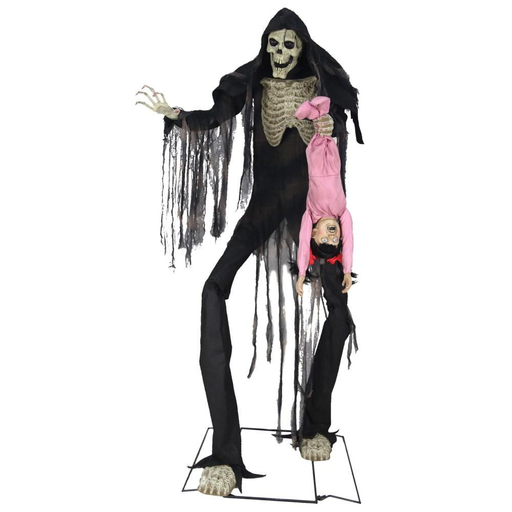 死神 ハロウィンデコレーション ホラー サウンド 可動 180cm