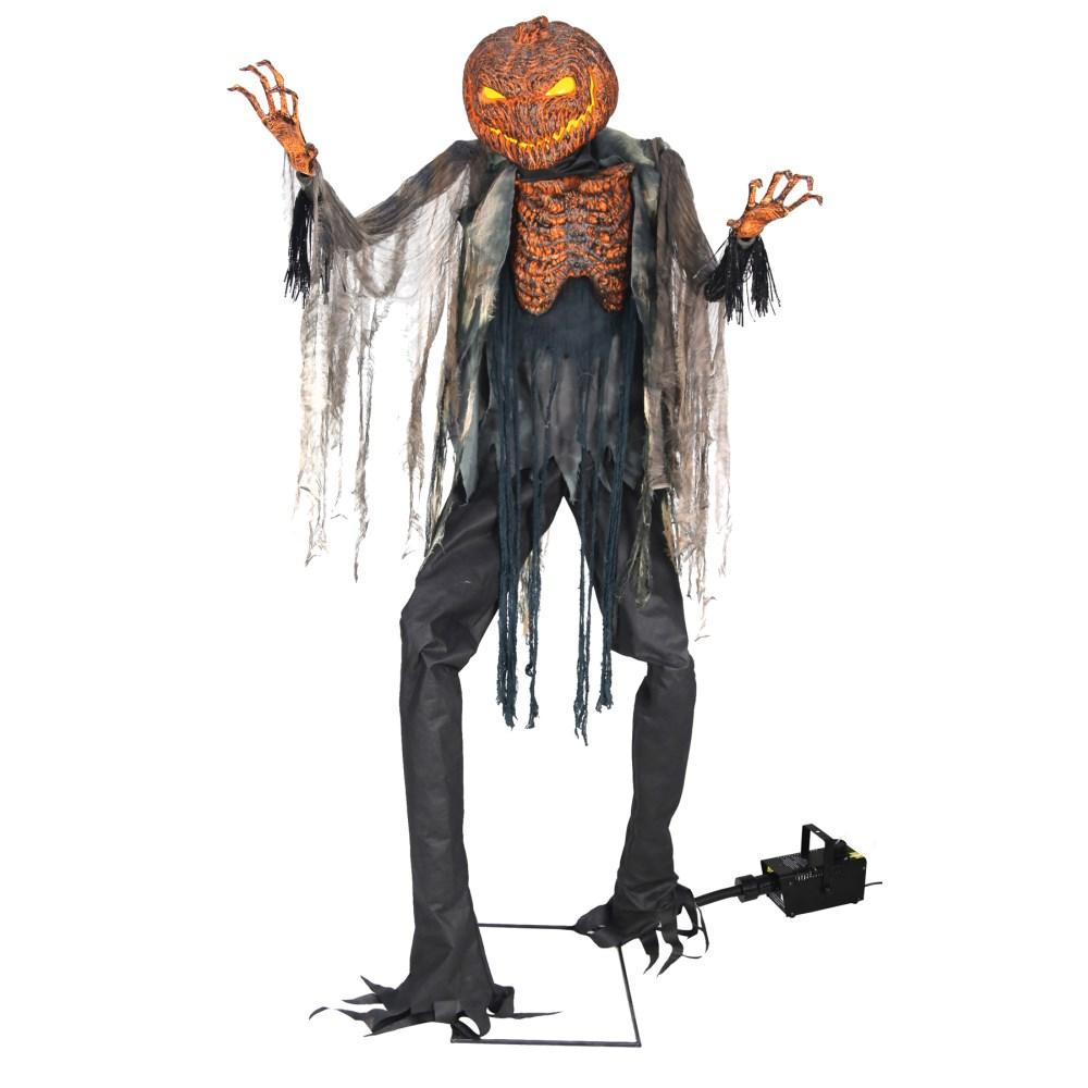 かぼちゃ おばけ デコレーション フォグマシンつき 2メートル SCORCHED SCARECROW W FOG コスプレ