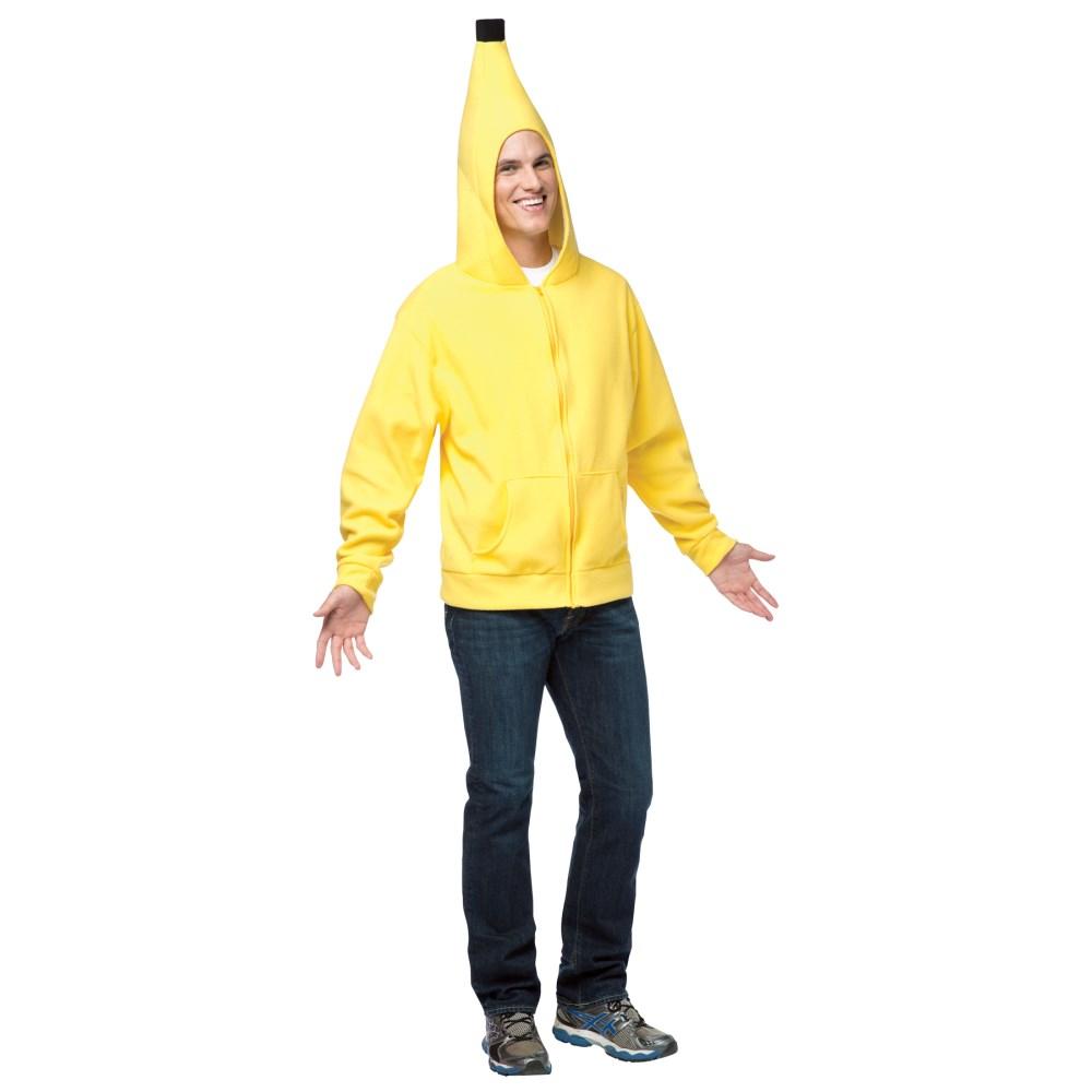 バナナパーカー 衣装、コスチューム 大人男性用 HOODIE BANANA ADULT コスプレ