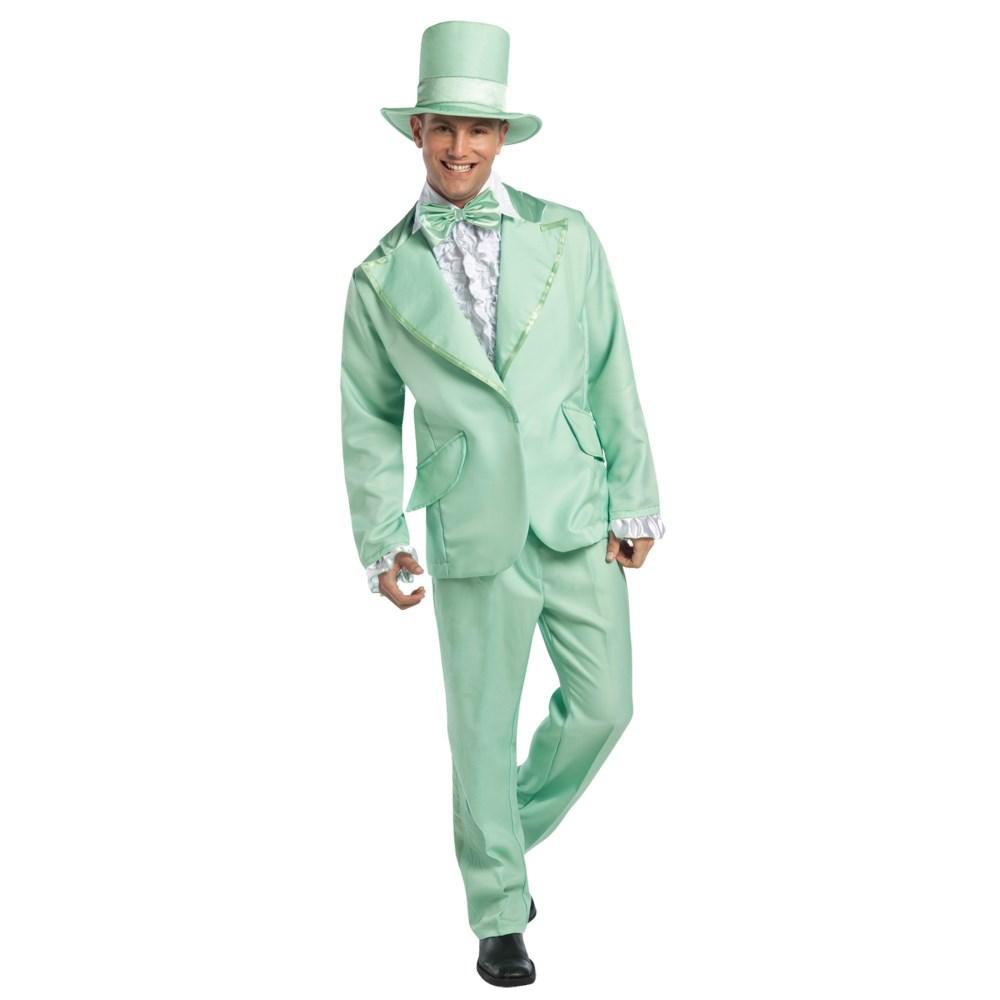 ダンサー 衣装、コスチューム 大人男性用 70S FUNKY TUXEDO PASTEL GREEN