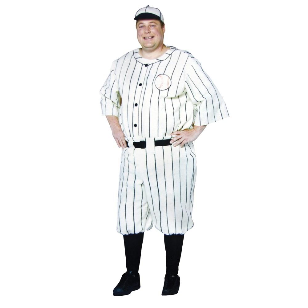 オールドタイプのベースボールユニフォーム 衣装、コスチューム 大人男性用 OLD TYME BASEBALL PLAYER PLUS