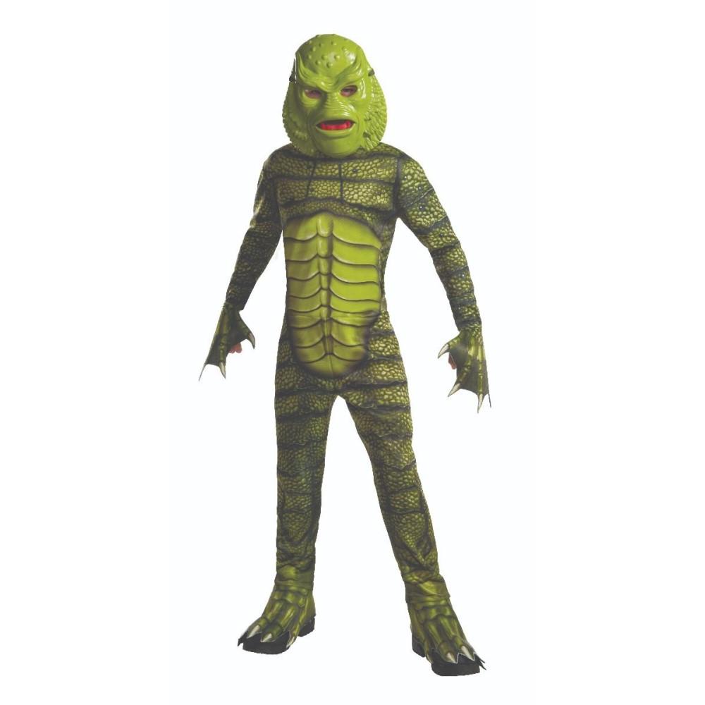 半魚人 衣装、コスチューム 子供男性用 ユニバーサルモンスターズ コスプレ