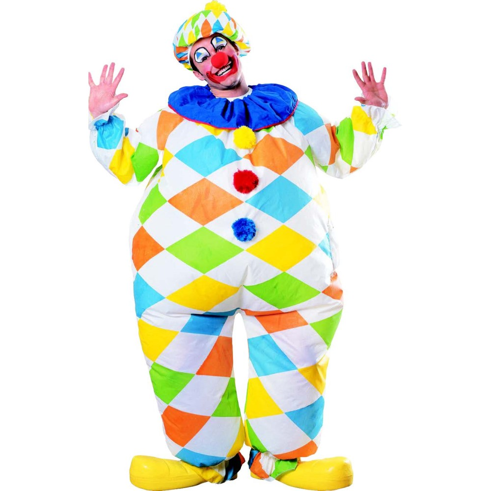 ピエロ サーカス 衣装、コスチューム 大人用 着ぐるみ 空気で膨らむ コスプレ