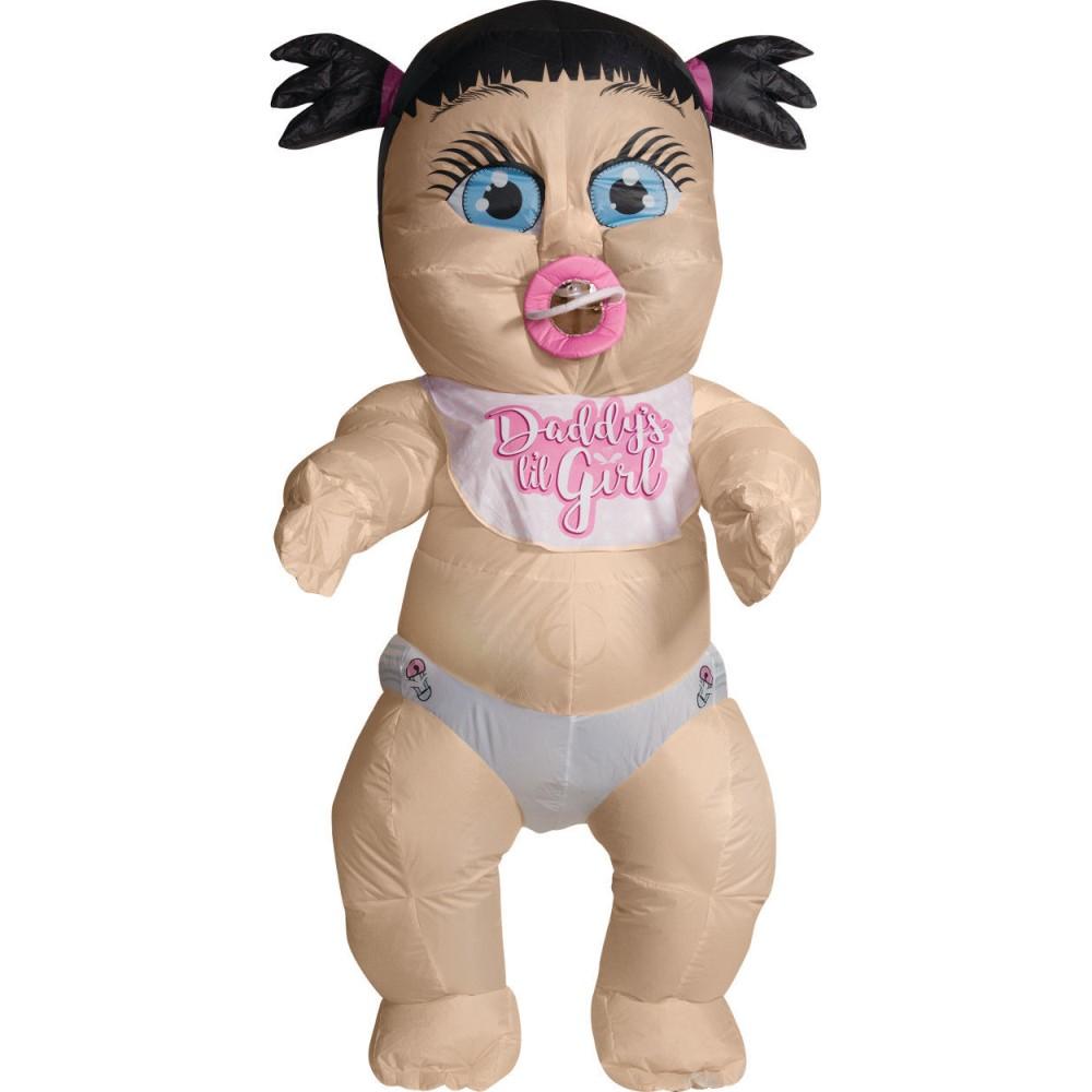 女の子 赤ちゃん 着ぐるみ 大人用 衣装、コスチューム 空気で膨らむ