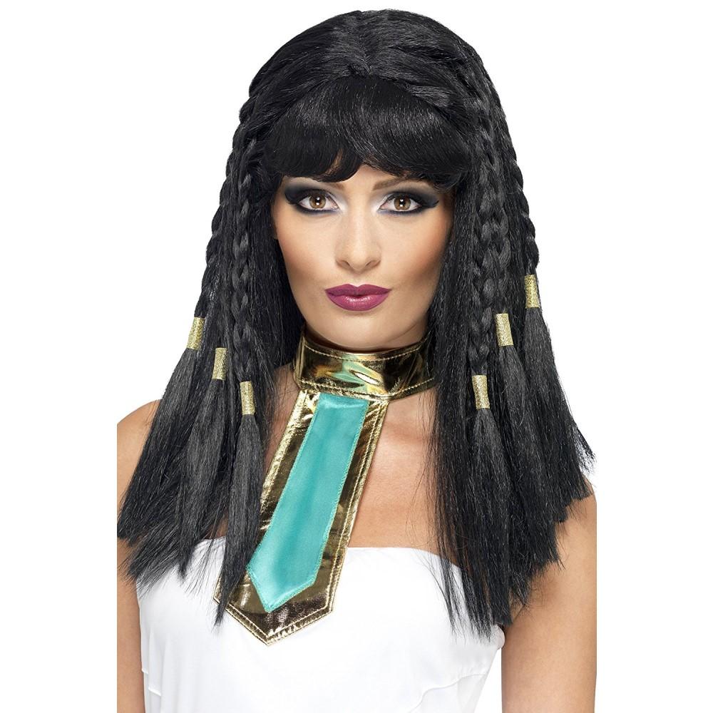 クレオパトラ ウィッグ 大人用 ブラック ミディアム エジプト 仮装 コスプレ