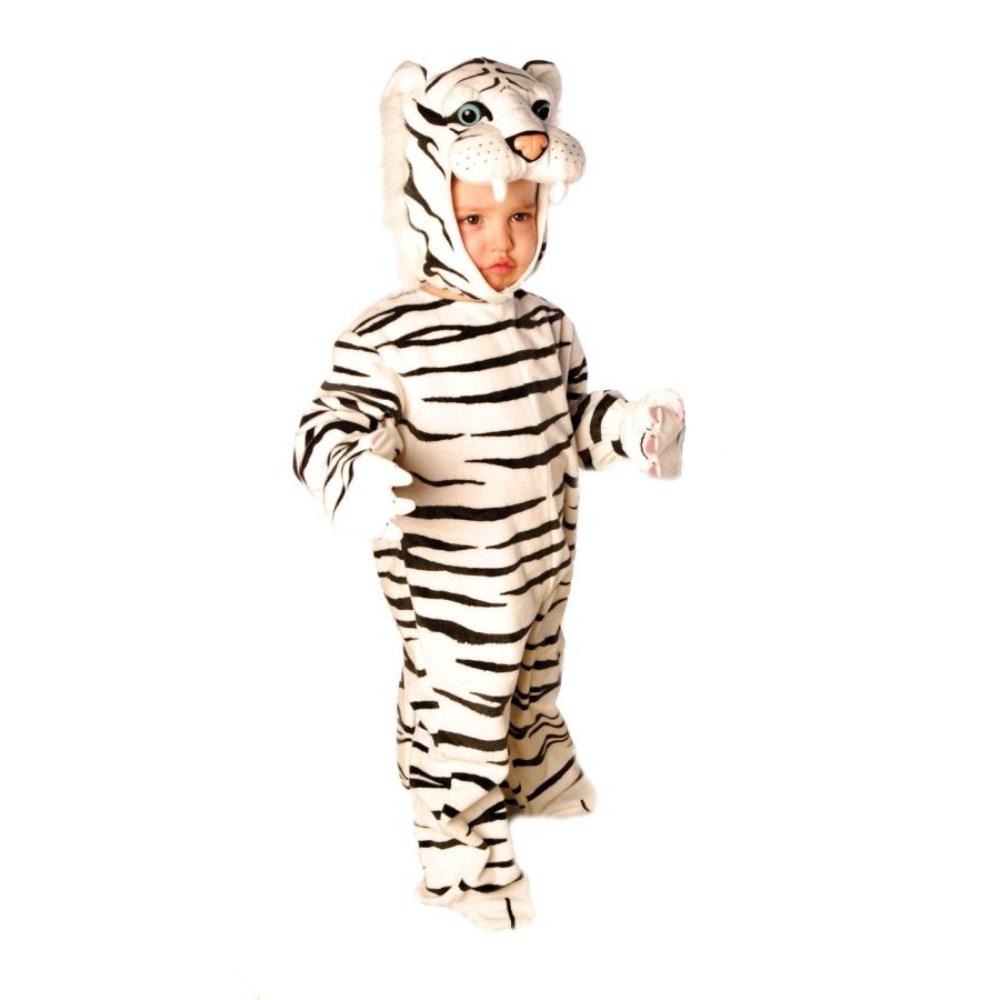 ホワイトタイガー 衣装、コスチューム 着ぐるみ 子供男性用 TIGER WHITE PLUSH コスプレ