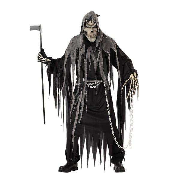 死神 衣装、コスチューム 大人男性用 骸骨 ハロウィン ホラー