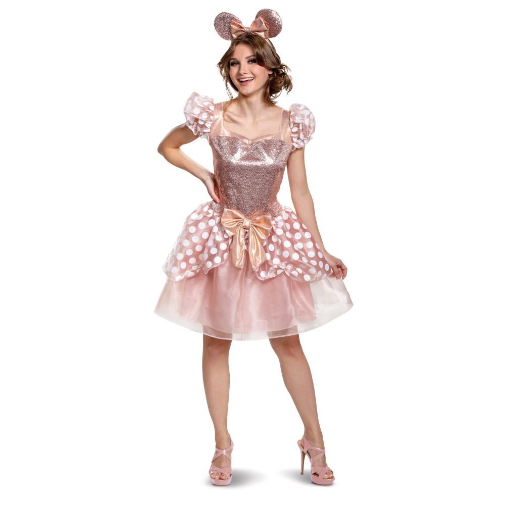 ミニー・マウス 衣装、コスチューム 大人女性用 Deluxe ディズニー ミニーちゃん ローズゴールド