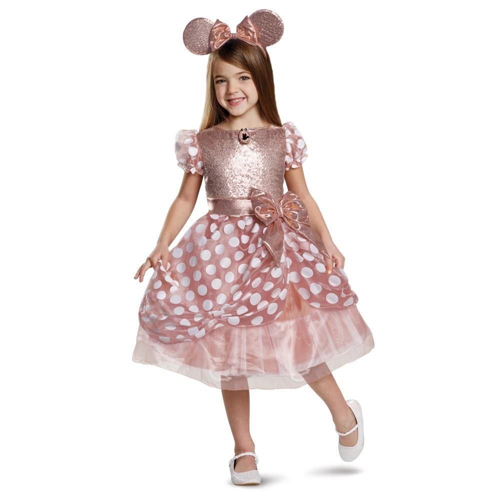ミニー・マウス 衣装、コスチューム 子供女性用 Deluxe ディズニー ミニーちゃん ローズゴールド コスプレ