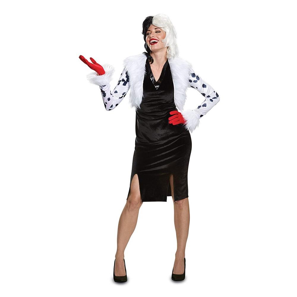 クルエラ 衣装、コスチューム 大人女性用 101匹わんちゃん Deluxe ディズニー ヴィランズ