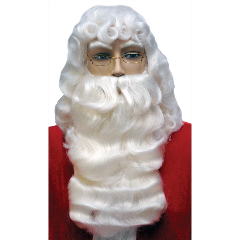 サンタクロース ウィッグ ヒゲ 大人用 クリスマス SANTA SET 001 DLX WHITE