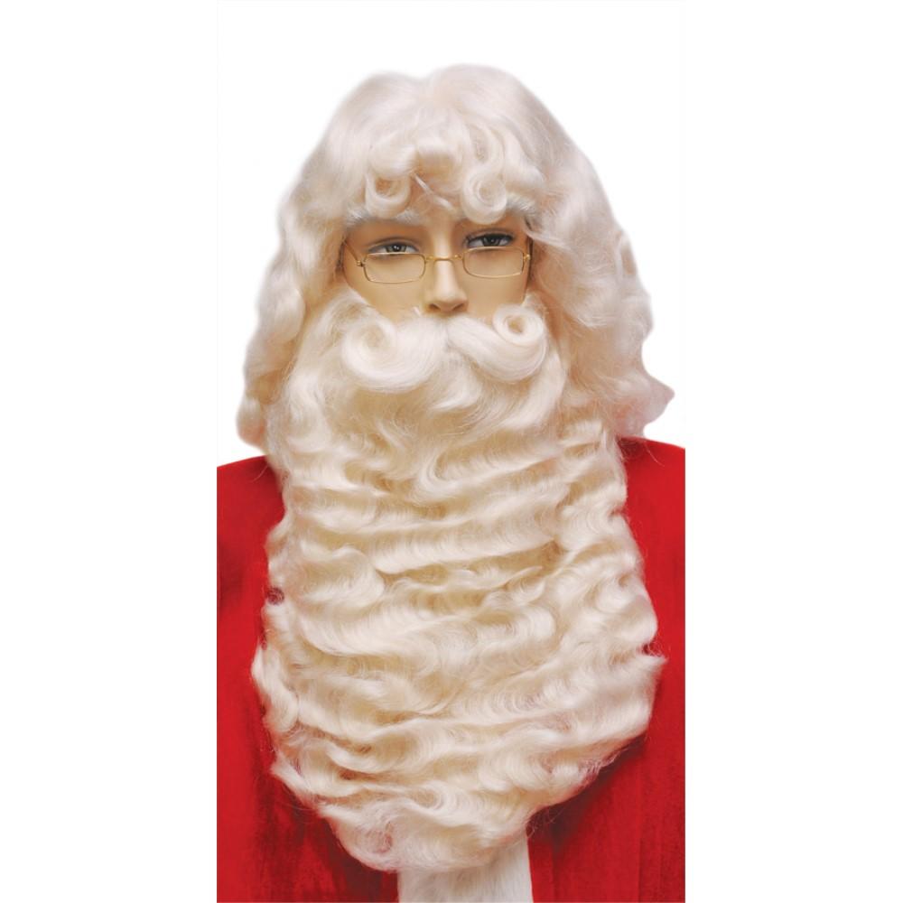 サンタクロース ウィッグ、ヒゲ クリスマス 仮装グッズ SANTA SET 004 SUPREME WHITE