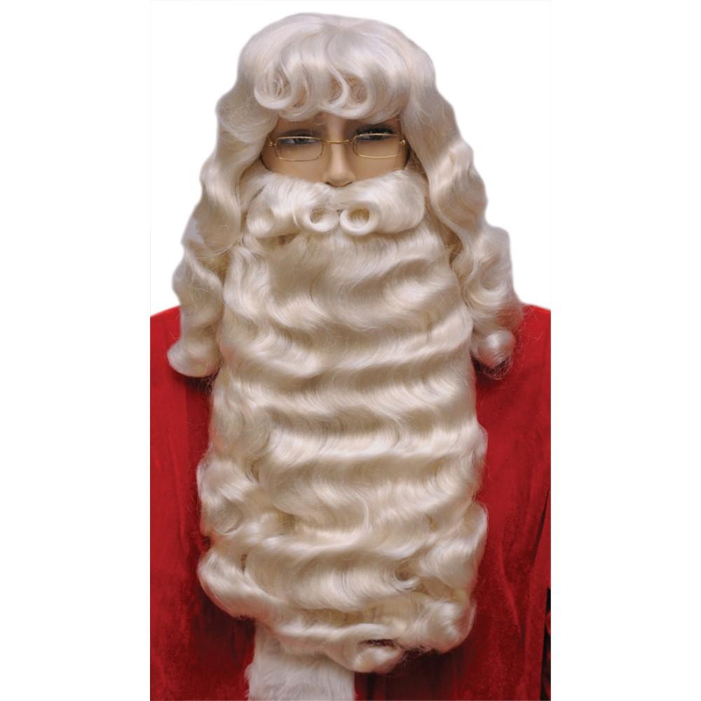 サンタクロース ウィッグ、ヒゲ クリスマス 仮装グッズ SANTA SET 004L SUPREME WHITE