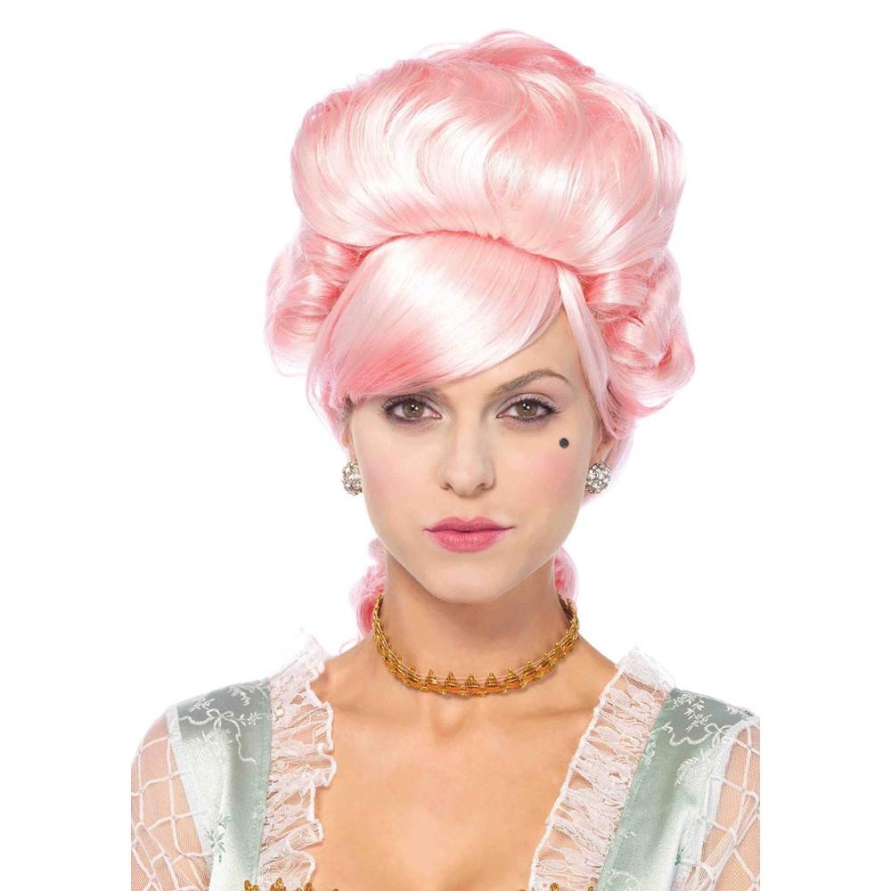 マリーアントワネット ウィッグ、かつら ピンク アップスタイル 大人女性用 貴族 ヨーロッパ コスプレ