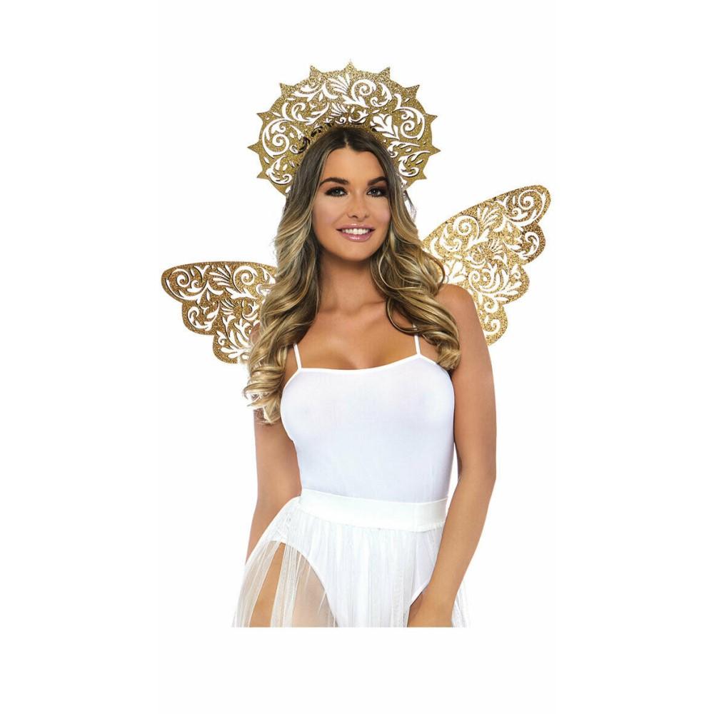ゴールデンエンジェル 仮装グッズ 大人用 羽 天使の輪 メットガラ風 天使 女神 コスプレ