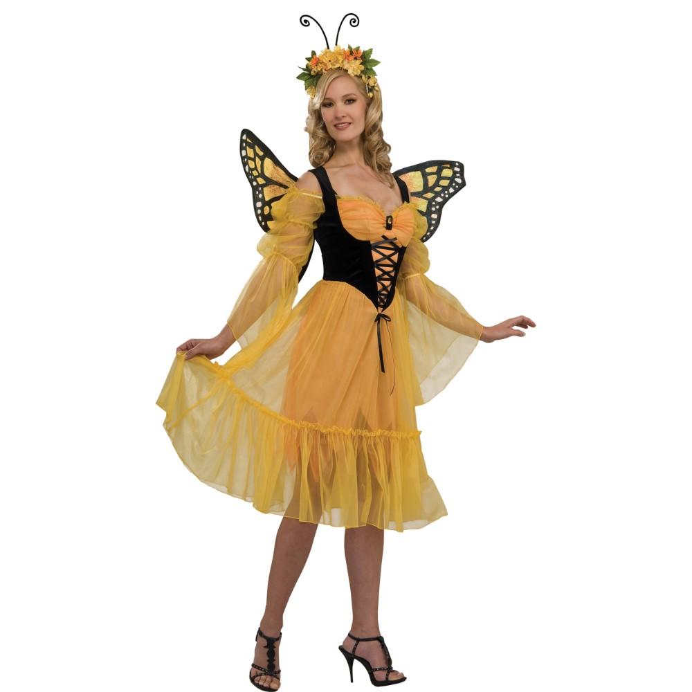 蝶々 衣装、コスチューム 大人女性用 バタフライ 妖精 MONARCH BUTTERFLY ADULT コスプレ