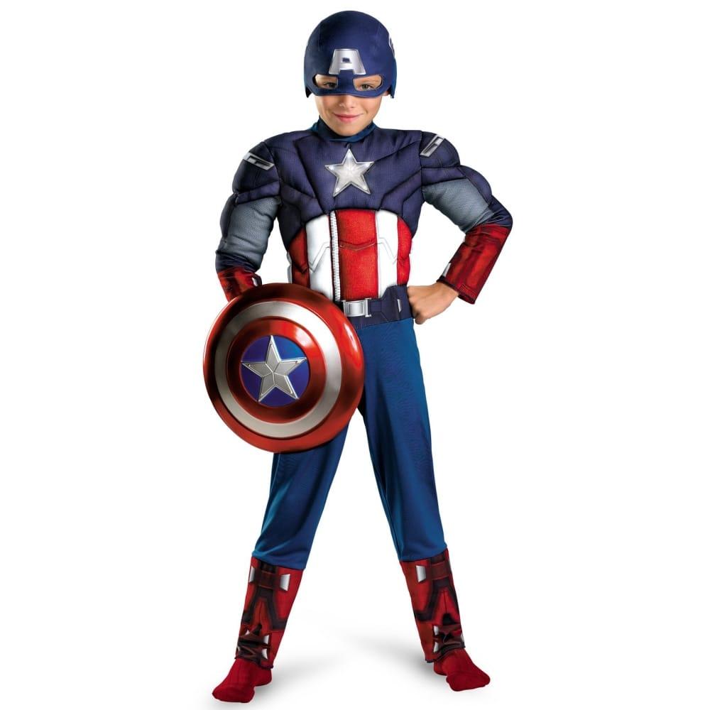 キャプテン・アメリカ 衣装、コスチューム 子供男性用 マッスル アベンジャーズ コスプレ