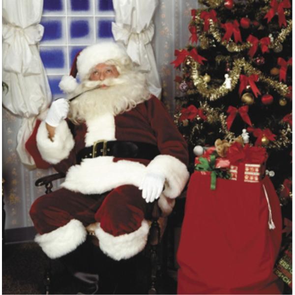 サンタクロース 衣装、コスチューム 大人男性用 CRIMSON IMPERIAL 濃赤色