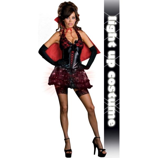 バンパイア 大人女性用 衣装、コスチューム 吸血鬼 セクシー 光る コスプレ