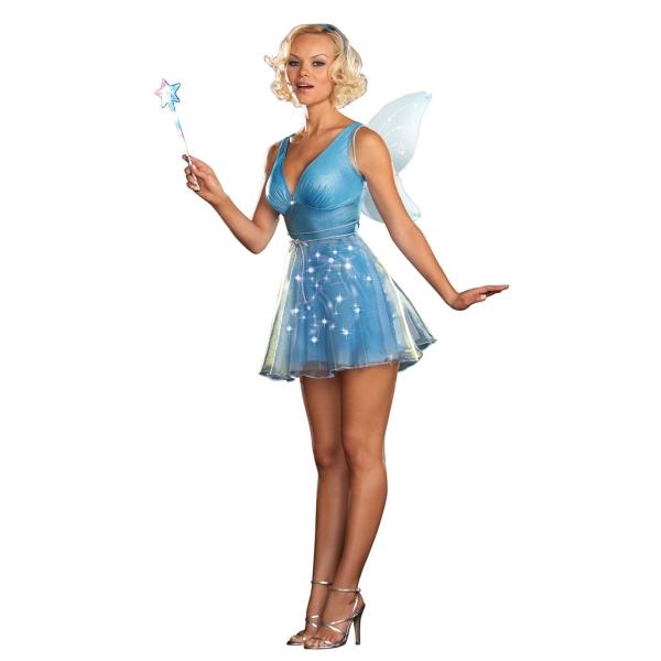 妖精 大人女性用 衣装、コスチューム Blue Fairy 光る