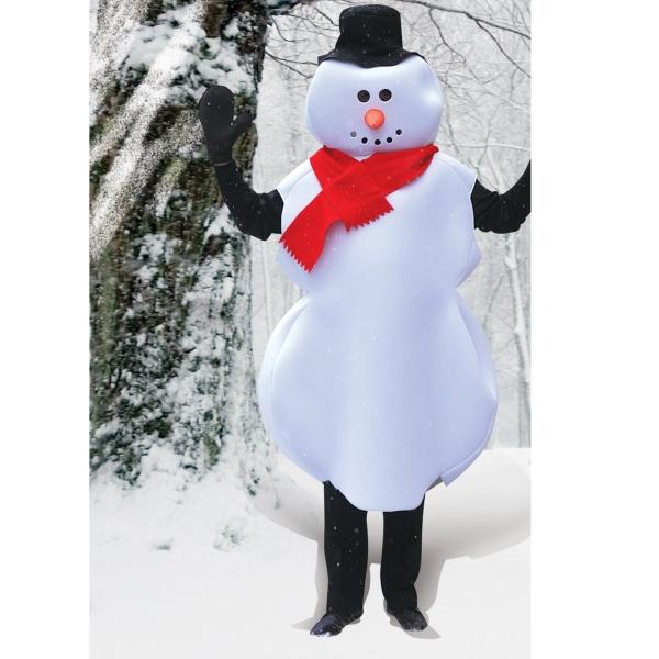 スノーマン 雪だるま 衣装、コスチューム 着ぐるみ 大人男性用 クリスマス