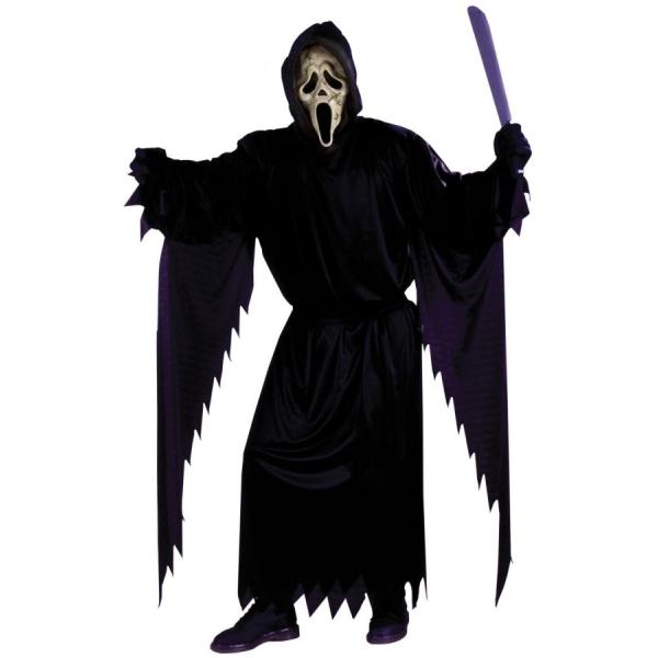スクリーム風 衣装、コスチューム ティーン大人男性用 ゴースト ホラー 死神 コスプレ