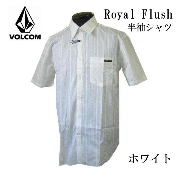 ボルコム VOLCOM メンズ シャツ Royal Flush 半袖シャツ ホワイト カジュアルシャツ 全国送料無料