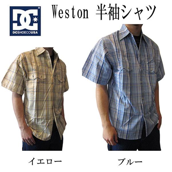 ディーシーシュー DCSHOE シャツ 半袖シャツ Weston チェック半袖シャツ カジュアルシャツ メンズ 全国送料無料
