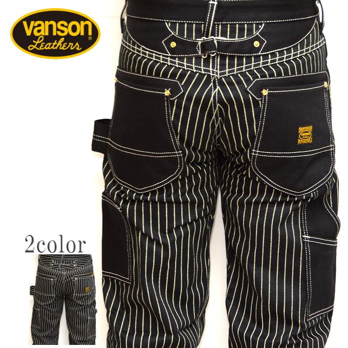 バンソン VANSON デニムペインターパンツ 日本製 NVBL-301 ウォバッシュ-B色 送料無料