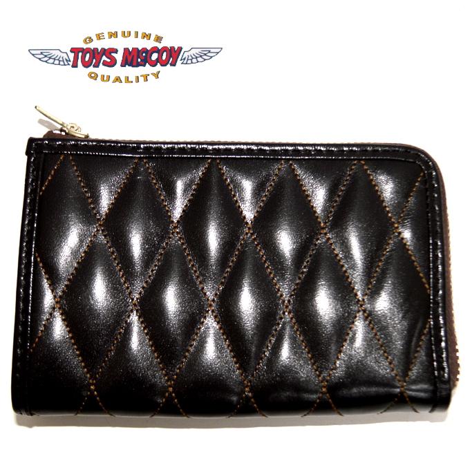 トイズマッコイ TOYS McCOY TMA1833 レザーキルティングショートウォレット ブラック色 財布 送料無料 新作