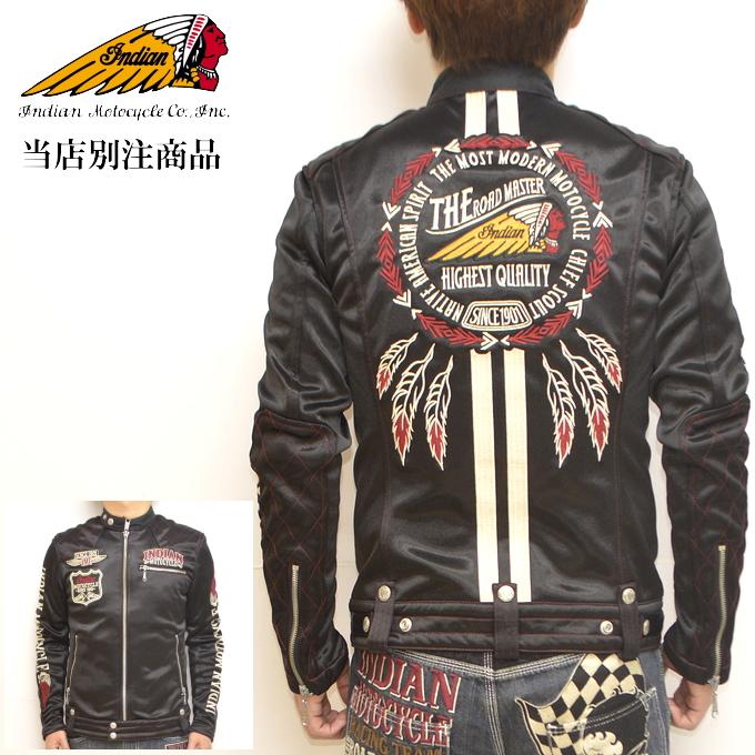 当店別注 インディアンモトサイクル ABI-901 ボンディング シングル ライダース ジャケット Indian Motocyacle アウター 送料無料