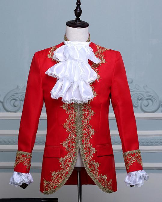 3色入荷 メンズ スーツ スーツセット 上下セット タキシード メンズ タキシード 演出服 華麗な王族服 王子様 ヨーロッパ風 復古風 コスプレ衣装 宮廷服