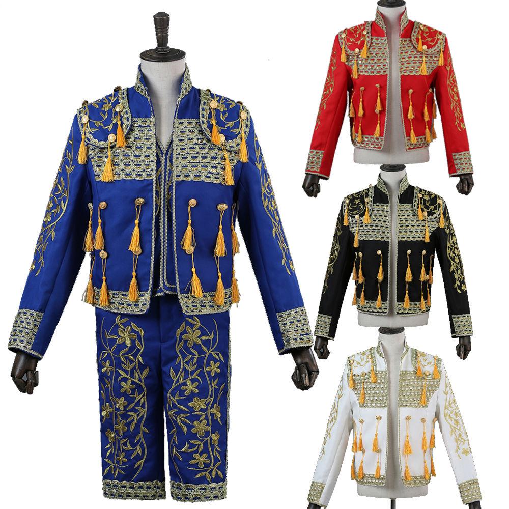 4色 メンズ スーツ スーツセット 上下セット タキシード メンズ タキシード パンツ 半ズボン ベスト 演出服 華麗な王族服 王子様 ヨーロッパ風 復古風 コスプレ衣装 宮廷服 コスチューム 貴族服