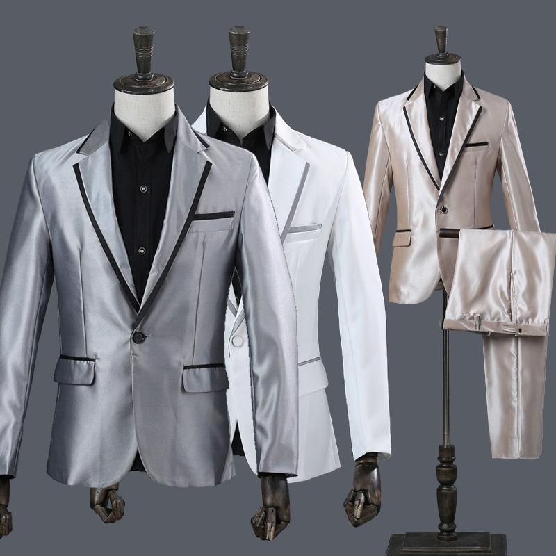フォーマル パンツ 上下セット レッド タキシード 司会 メンズ スーツ 結婚式// スーツセット タキシード メンズ 演出服 セットアップ パーティ// ジャケット、ズボン