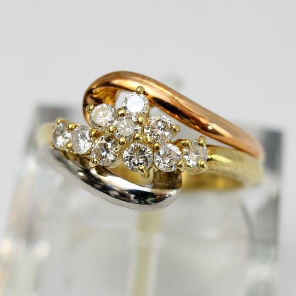 【中古】 18金&プラチナ ダイヤモンド 0.50ct リング 12号