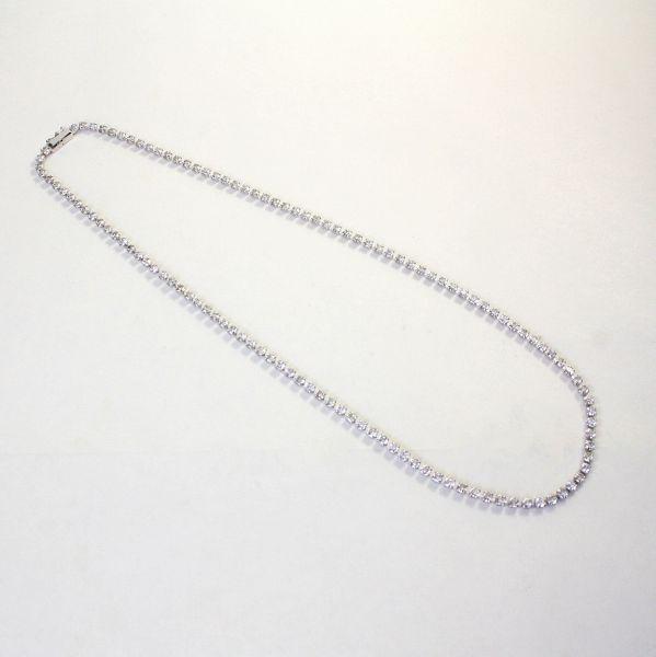 【中古】 プラチナ ダイヤ 10.01ct テニスネックレス