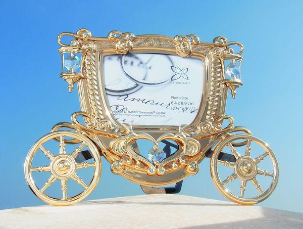 誕生日 プレゼント ギフト 女性スワロフスキー クリスタル SWAROVSKI/カボチャの馬車 写真立て フォトフレームまとめ買いの絶好のチャンス!最安値挑戦中!