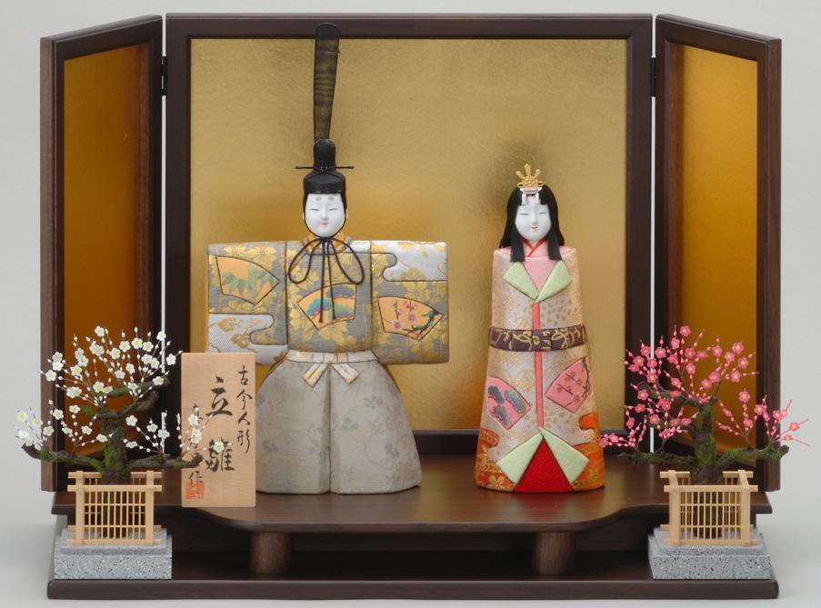 【送料無料】真多呂作 木目込み人形 酪陽立雛セット1155