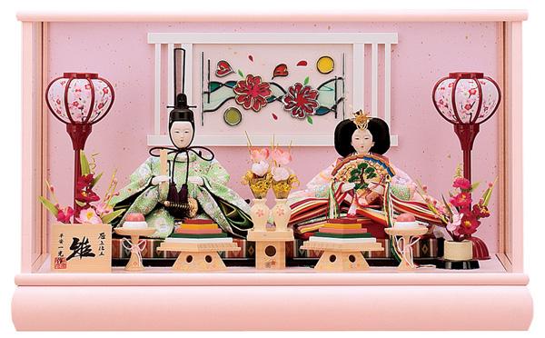 【お顔がきれい】【送料無料】雛人形ケース入り 芥子、親王飾り 花音 No202