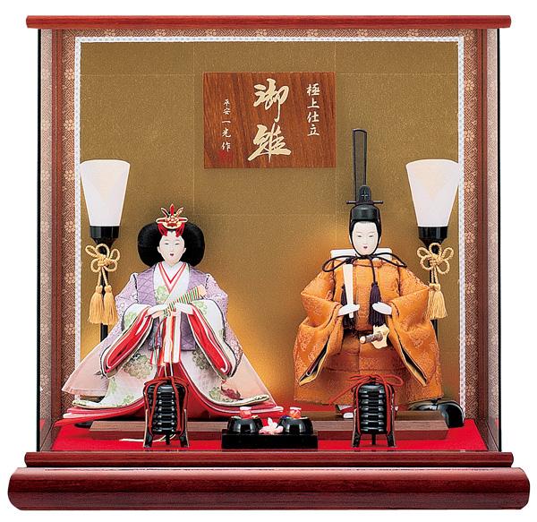 【お顔がきれい】【送料無料】雛人形ケース入り 芥子立雛、親王飾り 慶祝 No204