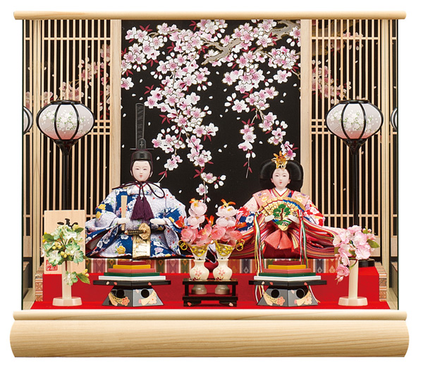 【お顔がきれい】【送料無料】雛人形ケース入り 小三五、親王飾り 美咲 No206