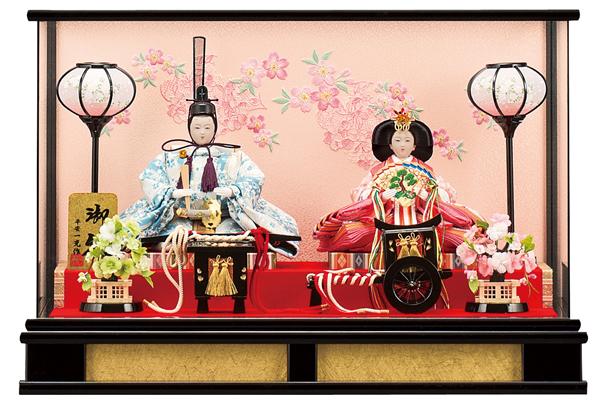 【お顔がきれい】【送料無料】雛人形ケース入り 芥子、親王飾り 愛莉 No10