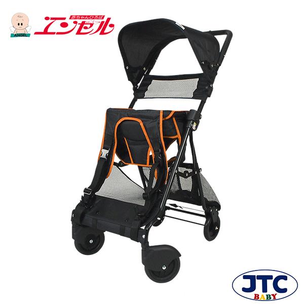 おんぶっこバギー(オレンジ)【JTC ベビーカー しょいっこ】