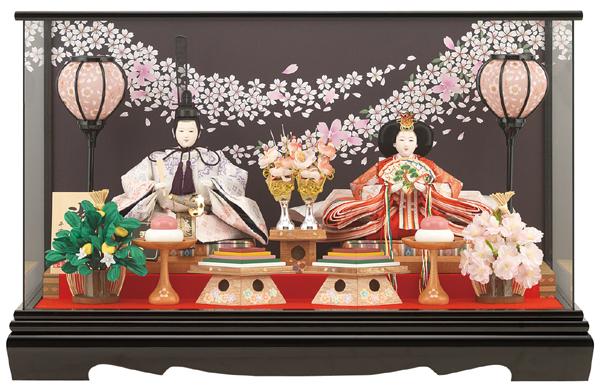 【送料無料】雛人形ケース入り親王飾り三五 おびざくらNo21