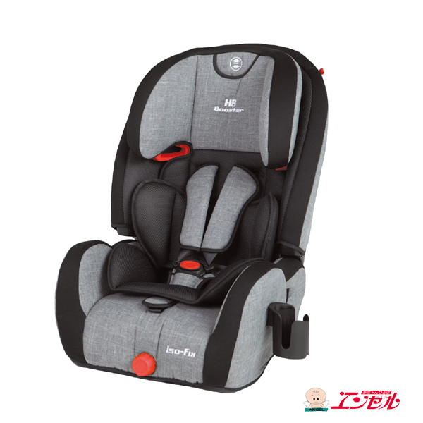 ハイバックブースターEC Fix(グレーデニム)【日本育児正規販売店 1歳から ハイバックシート ISOFIX】