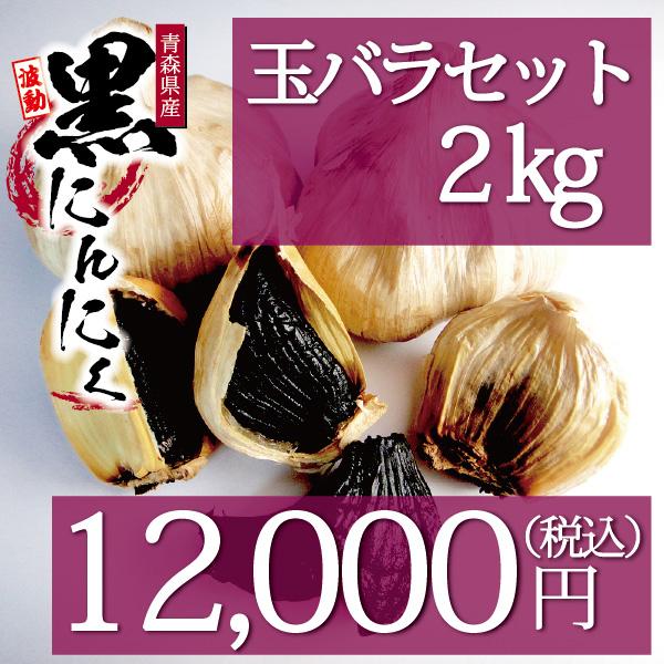 波動黒にんにく 玉バラ2kgセット