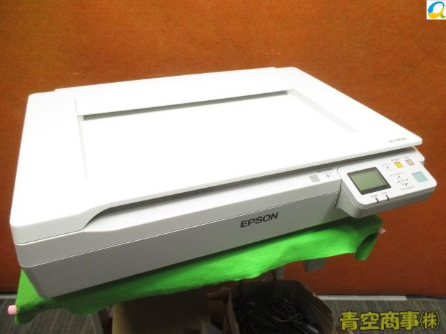 【中古】EPSON A3 フラットベット カラースキャナ DS-50000 LAN接続(DSPNNW1装着済み)高耐久! 総スキャン数:1599枚[b7158]