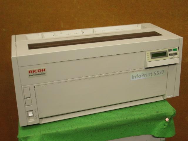 RICOHIBMドットプリンタ5577複写伝票 中古 RICOH 5577-H05 ドットプリンター メーカー直送 USB パラレル LAN接続 返品不可 b10382
