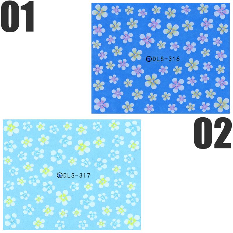 売れ筋 ウォーターネイルシール 花 フラワー 日本正規代理店品 極薄 重ね貼りOK