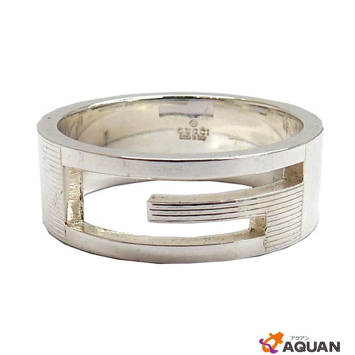 グッチ リング ブランデッドG SV925 シルバー #21 Gロゴ【中古】 指輪 アクセサリー メンズ GUCCI aq1968